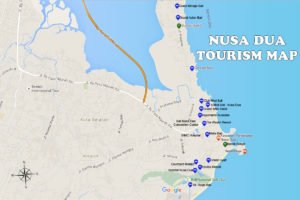 ヌサドゥア地区の地図