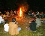 焚き火、パーティー、ツアー、Bewishサイクリングツアー
