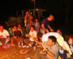 焚き火、焚き火パーティー、Bewishサイクリングツアー