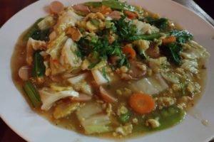 チャプチャイ、野菜、バリ島、屋台