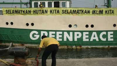 インドネシア森林保護, グリーンピース