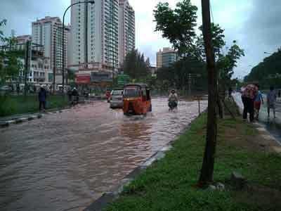 雨季, ジャカルタの水氾濫
