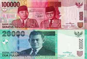 金種ルピア, インドネシアのお金